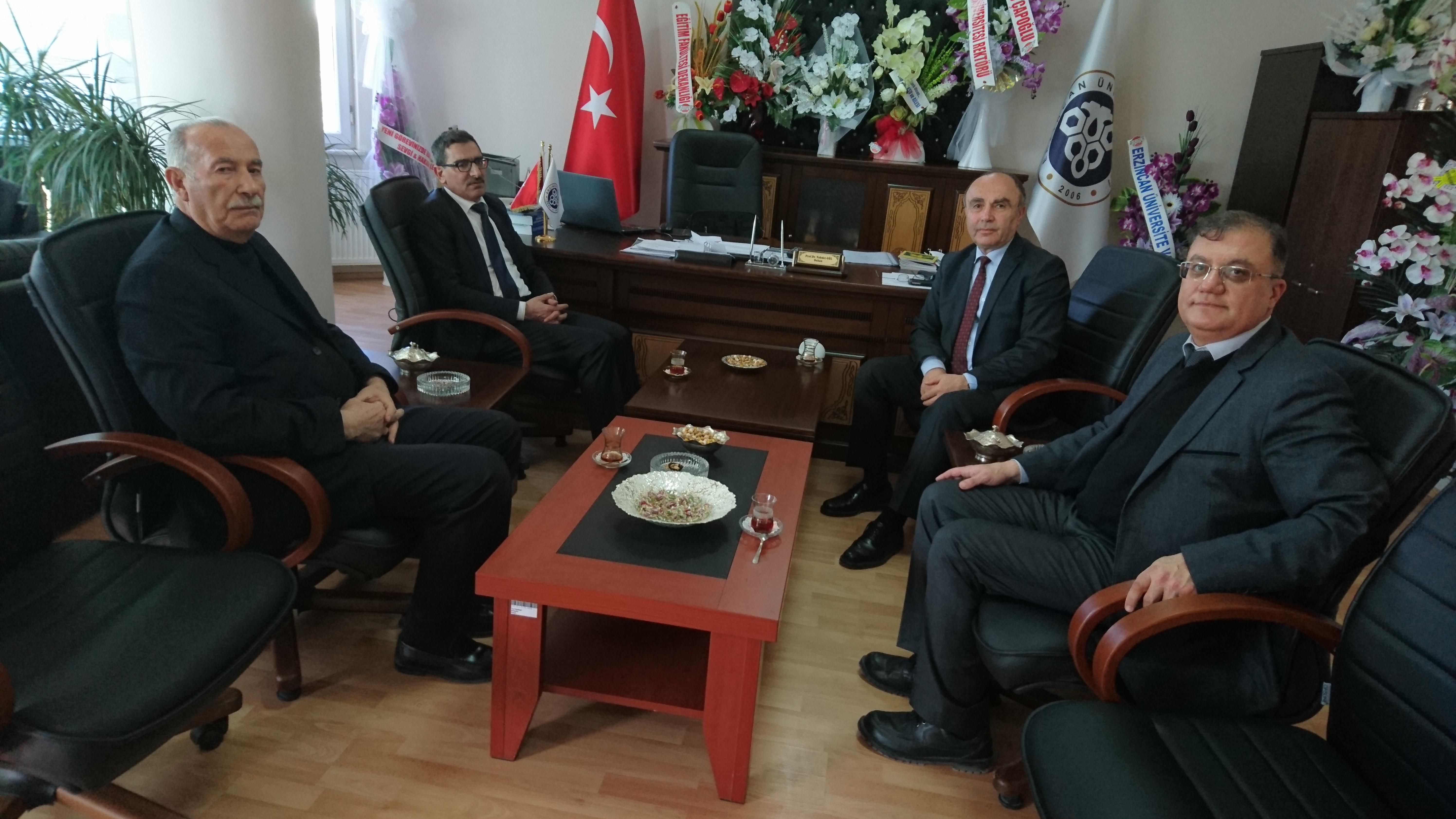 Erzincan İl Genel Meclis Başkanı Ünal TUYGUN ve Erzincan İl Genel Meclis Üyesi Ahmet GEDİK'in Dekanlığımızı Ziyaretleri