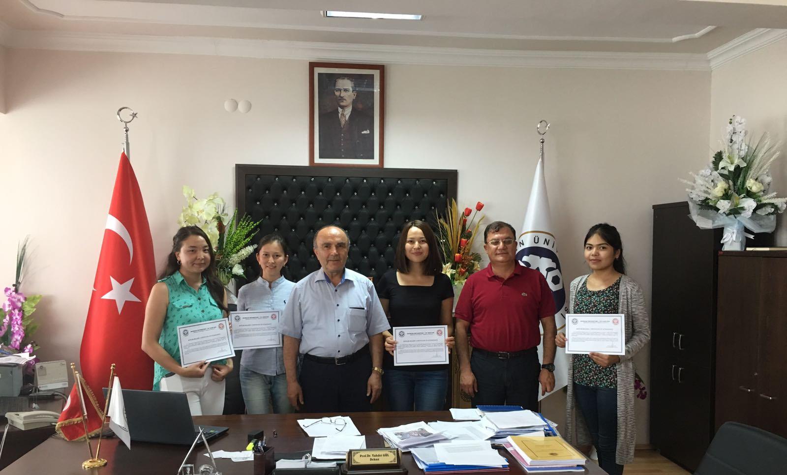 I.K Akhunbayev Kırgız Devlet Tıp Akademisi'nden Fakültemize Gelen Öğrenciler