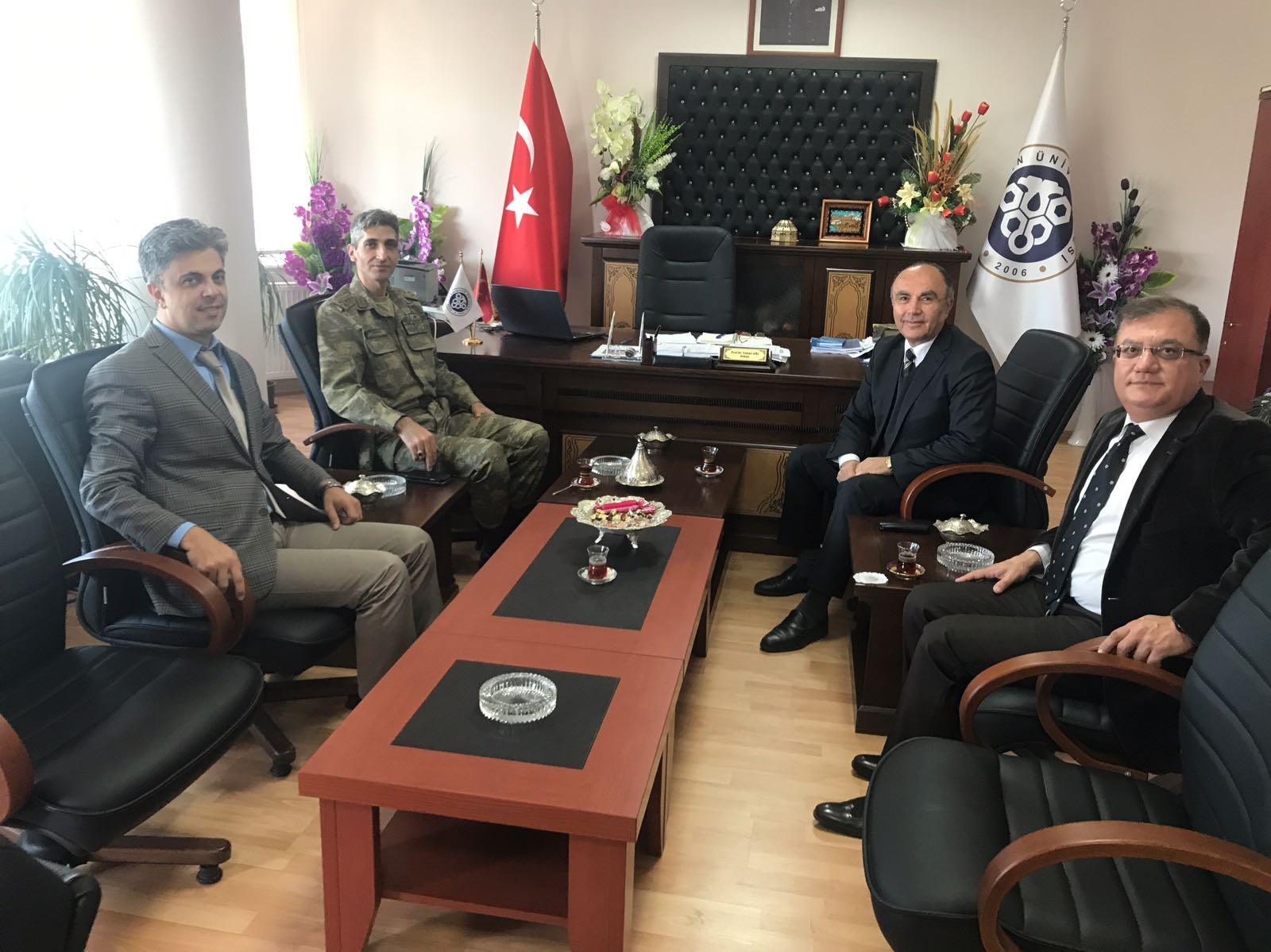 Erzincan İl Jandarma KomutanI Albay Hasan Aksoylu'nun Dekanlığımızı Ziyareti