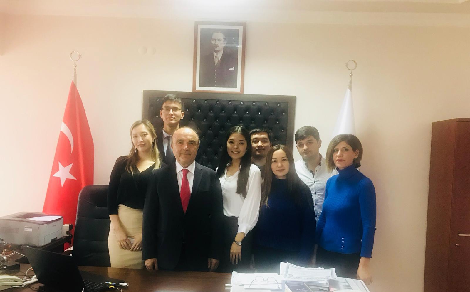 Fakültemizde Staj Gören Kazak Öğrenciler